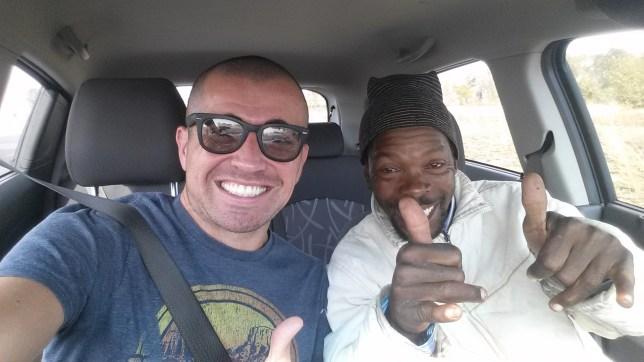 Me & my drunken Zutu hitchhiker