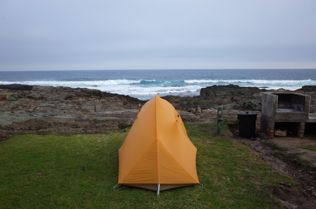 Camping at Tsitsikamma National Park, Garden Route, South Africa