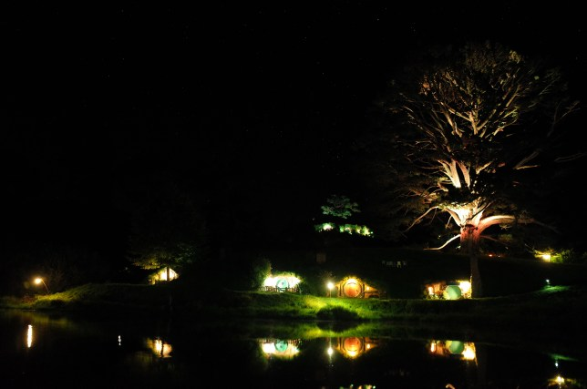 Hobbiton at night