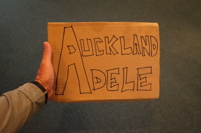 Hitchhiking to Adele in Auckland