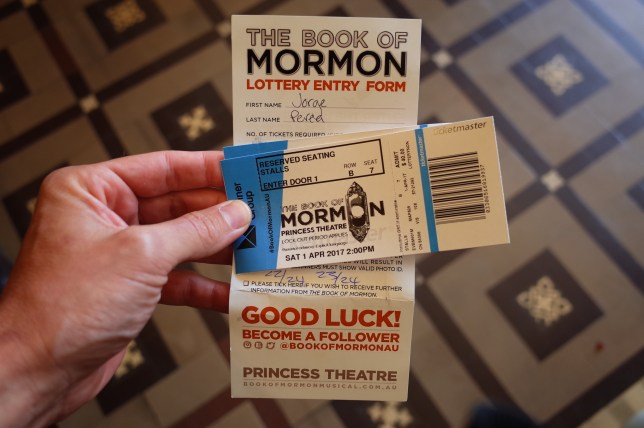 Book of Mormon, Melbourne
