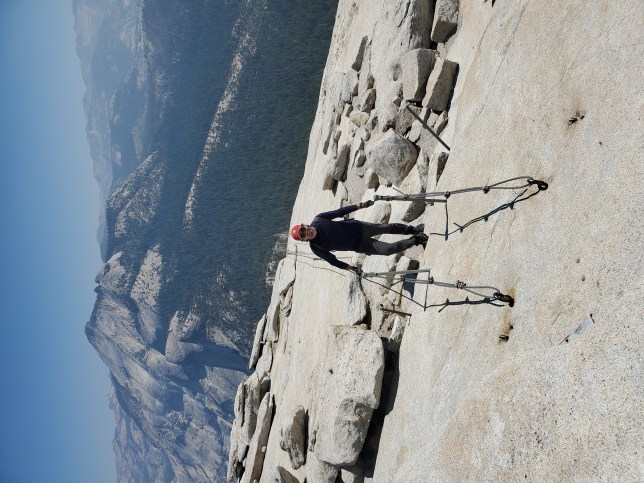 On the Half Dome chains - Yosemite National Park