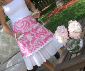 Pink Demi Apron from The Hip Hostess