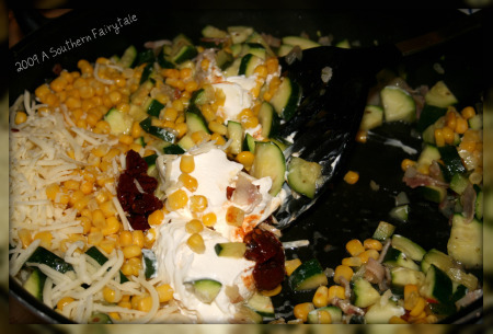 casserole ingredients. end