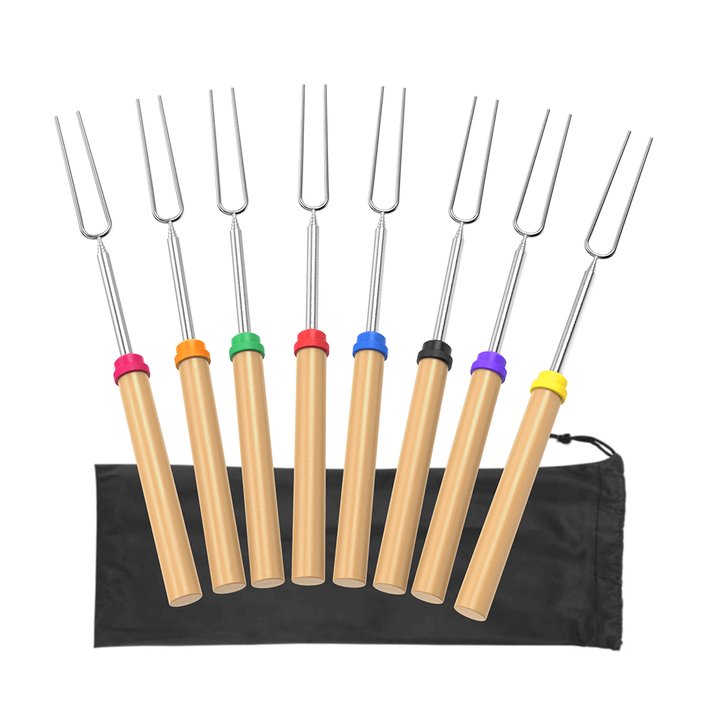 ADORIC Marshmallow Roasting Sticks, 8 Pack