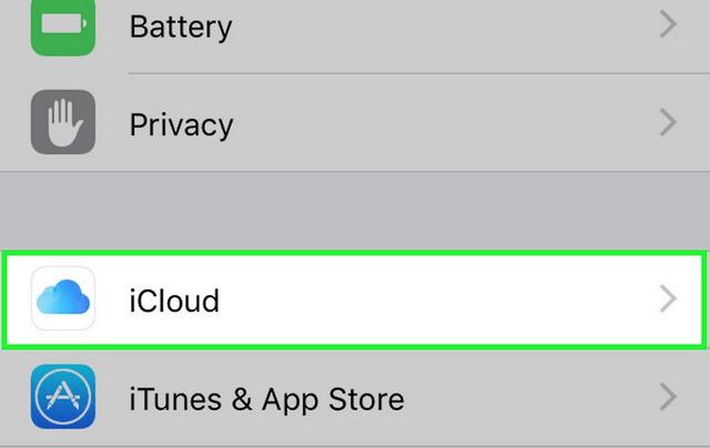 Aktivointi iCloudin kautta.