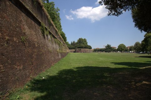 Outside Lucca's walls