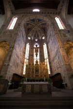 The altar at Santa Croce