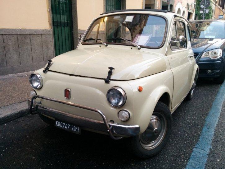 A classic Fiat 500