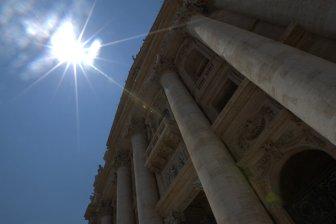 Blazing Vatican sun