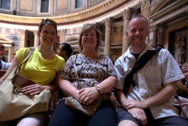 Andrea, Pat & Kirk in the Pantheon
