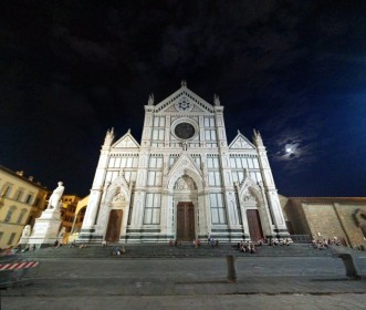 Santa Croce at night