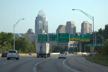 Downtown ahead