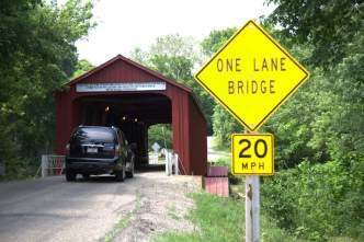 The Red Covered Bridge in Princeton IL
