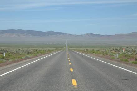 Highway 50 is a lonely road