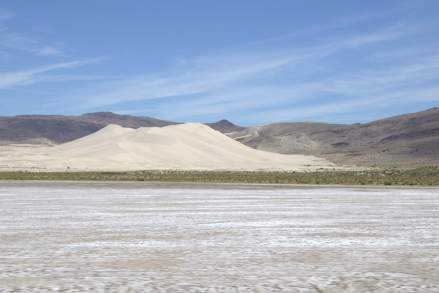 A huge pile of sand