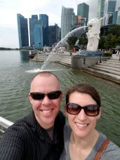 Selfie with the Merlion