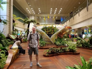 Kirk exploring Changi airport