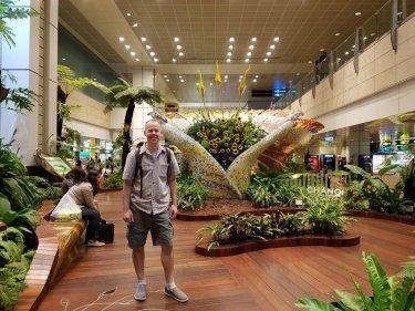 Kirk exploring Changi airport