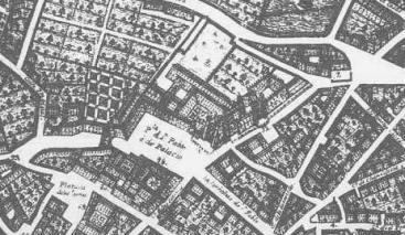 Las Cadenas de San Gregorio en el plano de Ventura Seco, 1738