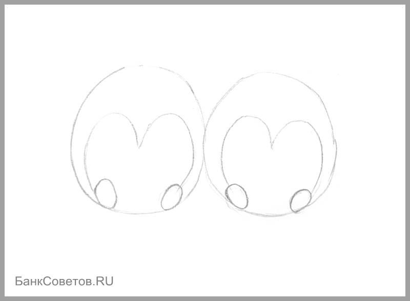 चरण संख्या 5: पेंगुइन पेनी कैसे आकर्षित करें