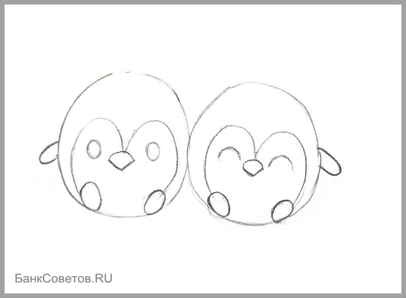 चरण संख्या 8: पेंगुइन पेंसिल कैसे आकर्षित करें