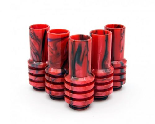 Red and Black Sniper 810 Drip Tips