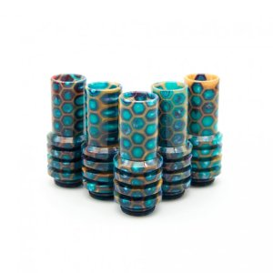 Gold and Teal - Sniper Drip Tips