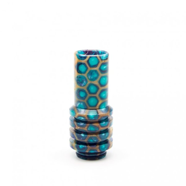 Gold and Teal Sniper 810 Drip Tip