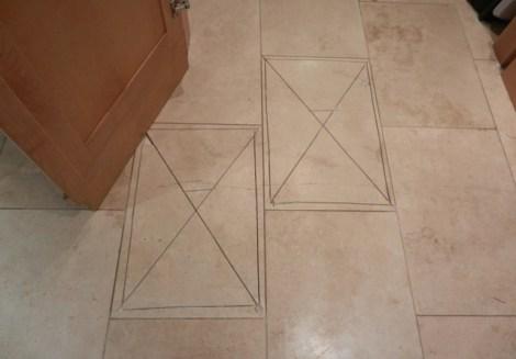 Damaged Travertine Tile