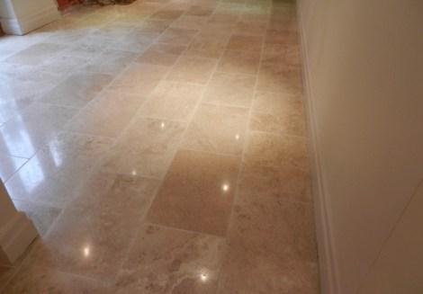 Travertine Floor Completed