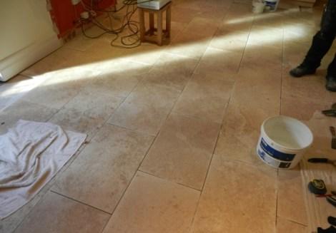 Travertine Floor Laid