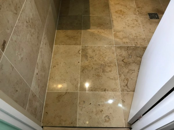 Limestone Shower After Renovation Sonning Eye