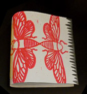 A sample bookbinding by Heather Griffin
