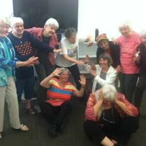Participants having fun at one of Nancy Lewars' previous classes.