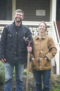 Alice and Craig Skipton, at Heyday Farm on Bainbridge Island.