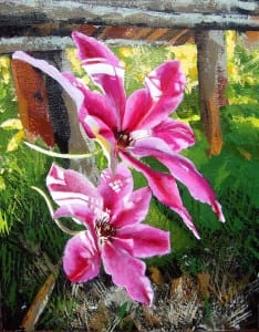 """Clematis II"" is a work of art that will be displayed in the Friday Arts Walk at the Library."
