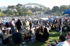 420 on Hippie Hill in San Francisco 4/20/2013 Copyright 2013 Old Hippie