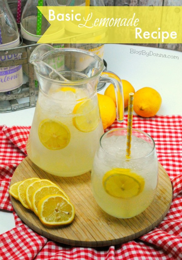 Basic homemade lemonade recipe
