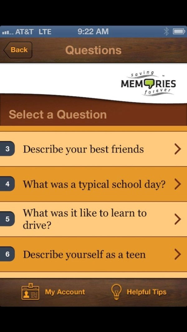 saving memories app
