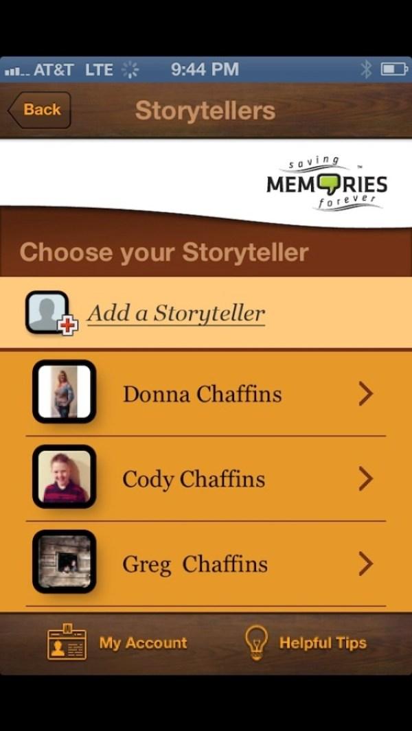 Saving memories forever storytellers