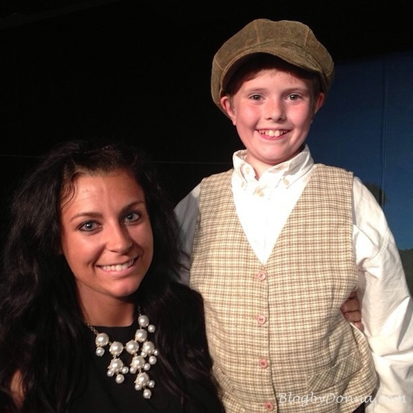 "Cody's teacher came and saw him perform as Caleb in ""Sarah Plain and Tall"" closing weekend"
