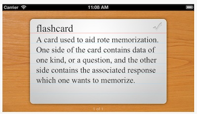 flashcards touch
