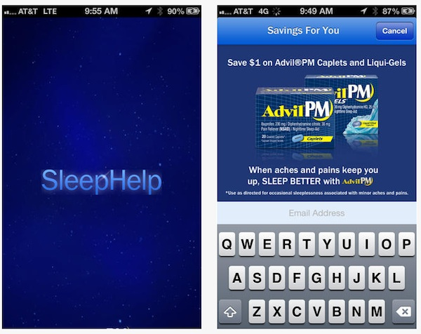 advil PM sleephelp app