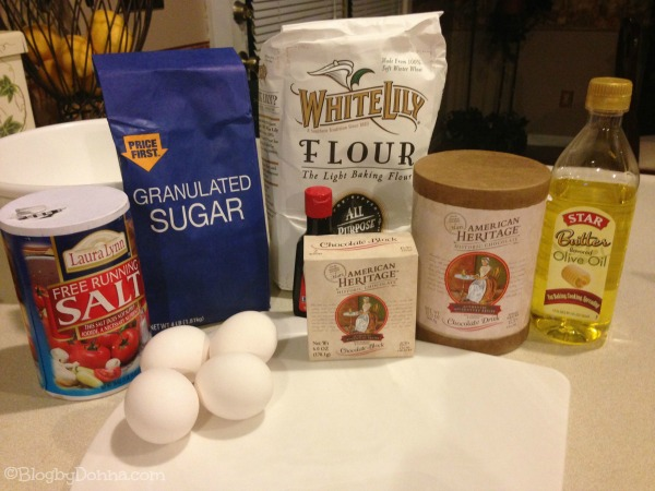 American Heritage Chocolate Ingredients for Brownies