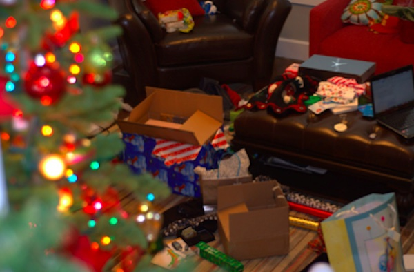 Christmas cleanup