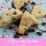 Chocolate Scones Recipe for Valentine's Day via Blog by Donna http://blogbydonna.com
