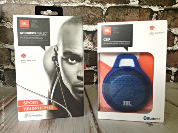 JBL Sport Headphones and JBL Clip Portable Bluetooth Speaker