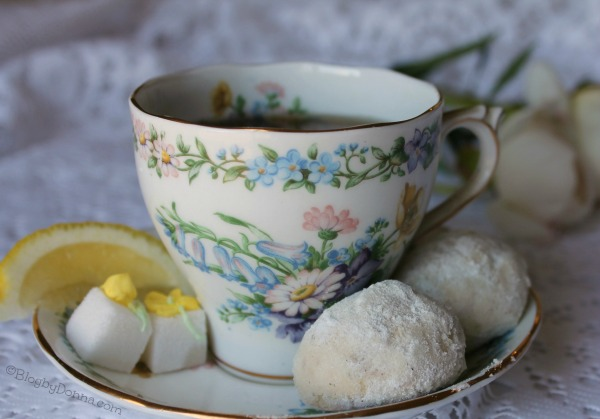 lemon lavender butter cookies recipe for a tea party