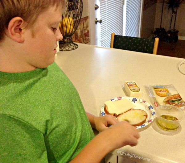 Cody Making Havarti Panini #HavartiParty